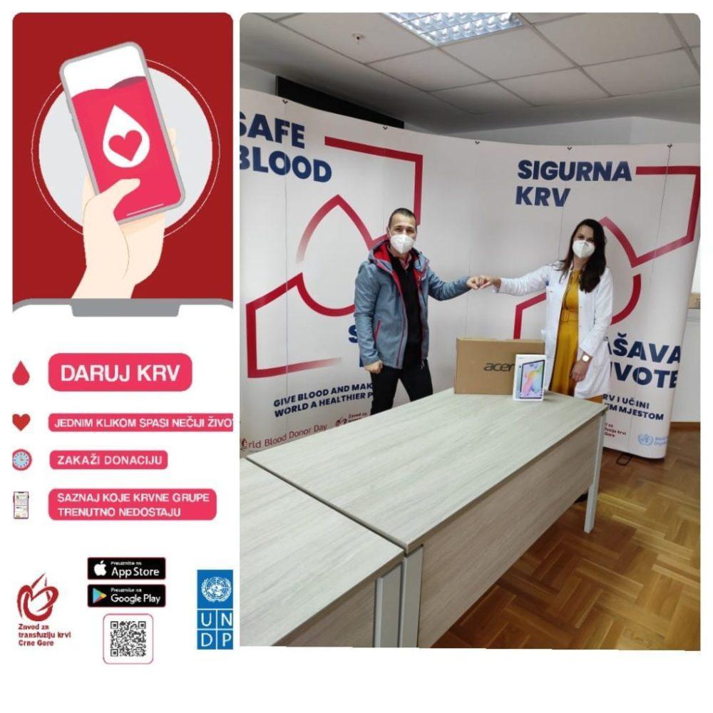 aplikacija za davanje krvi