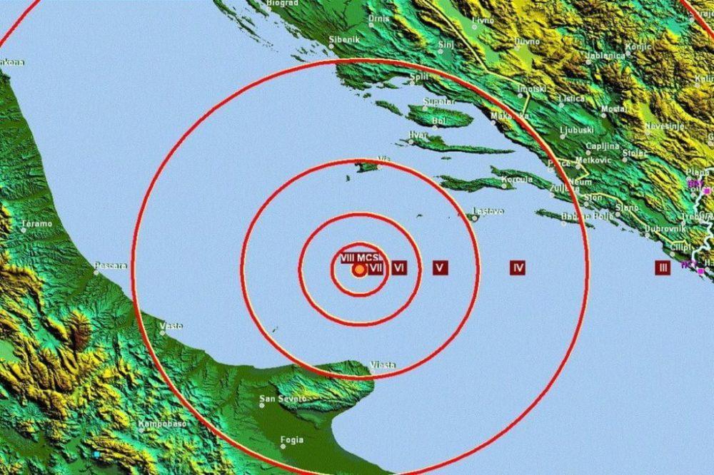 Jadransko more, zemljotres