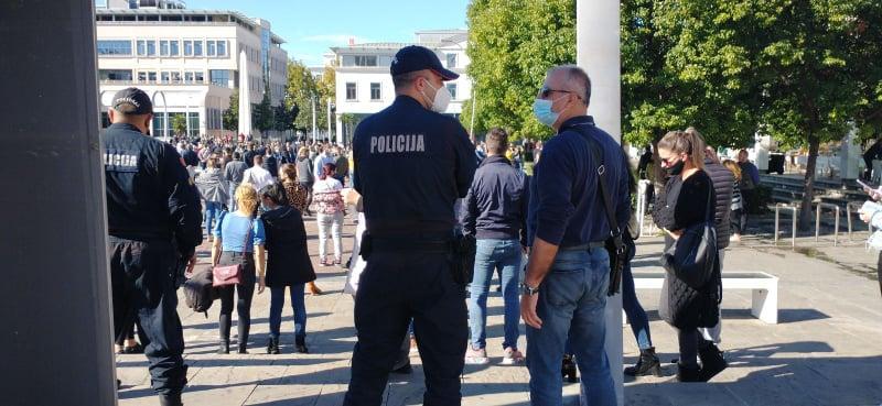 protesti, policija, Crna Gora