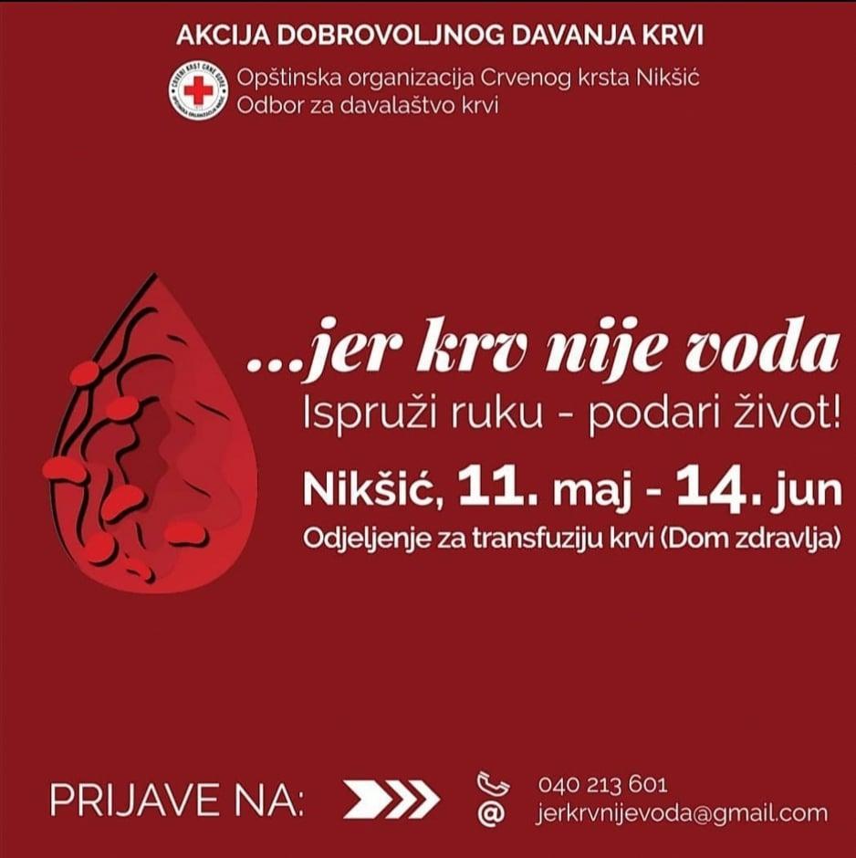 OO Crvenog krsta Nikšić i Klubova dobrovoljnih davalaca krvi