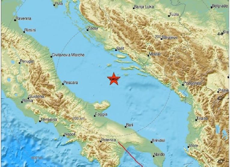 Novi zemljotres u Jadranskom moru