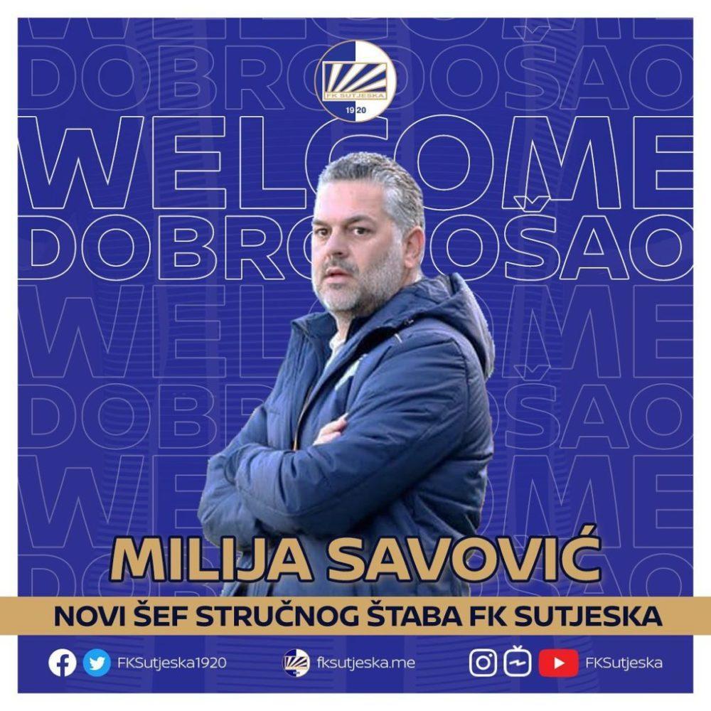 Sutjeska je i zvanično potvrdila rastanak sa dosadašnjim trenerom Miljanom Radovićem, a ujedno promovisala Miliju Savovića kao njegovog nasljednika.