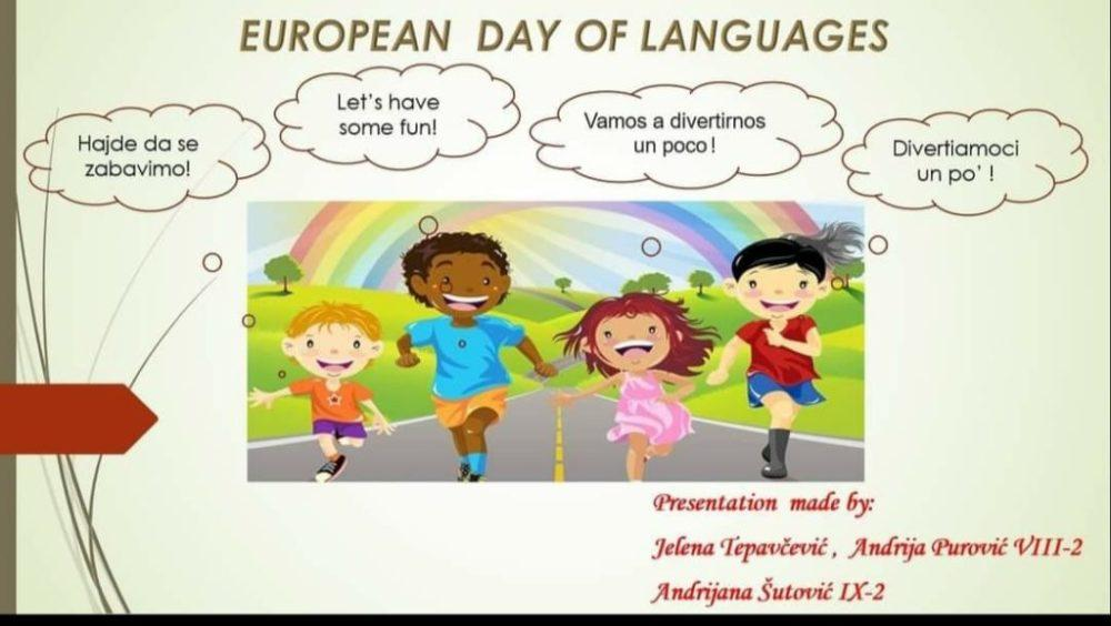 OS Jagos Kontic, Evropski dan jezika